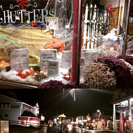 Great Halloween window display @ Chutters... and a beautiful Friday night out in Littleton 💕
