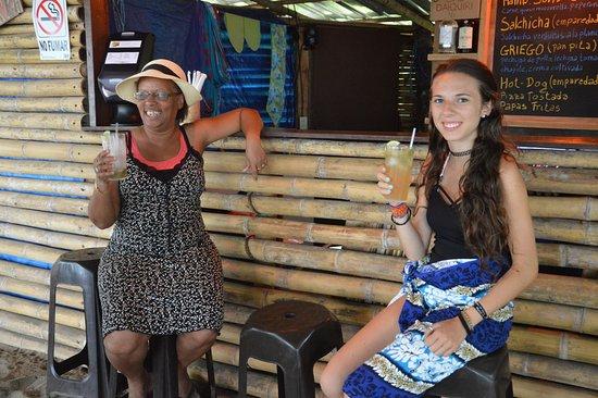 Playa Las Lajas, ปานามา: al bar