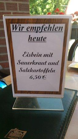Storkow, Germany: Tagesangebot Eisbein