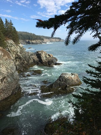 The Bold Coast: Just one of many overlooks along this trail