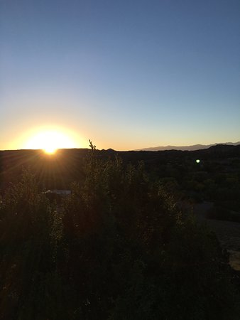 Ojo Caliente, NM: Sunrise from the hiking trail.