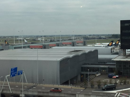 Schiphol, The Netherlands: Destressing therephy - a view from the room