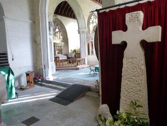 Saxon Cross in St Andrew's Church, Colyton