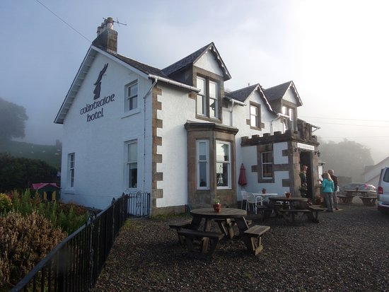 Colintraive Hotel in the mist