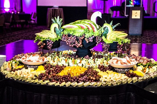 Sharonville, OH: Spread of appetizers during open house of Ramada Plaza