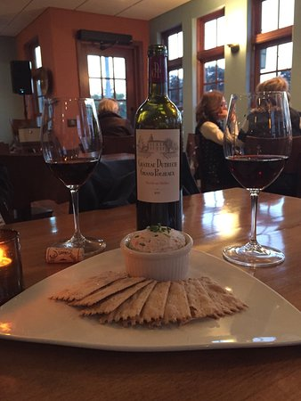 The Cookery Restaurant & Wine Bar : Wonderful whitefish spread and a nice wine