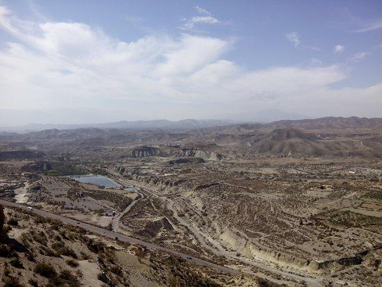 Vistas desde el Castillo de Tabernas, Almería.