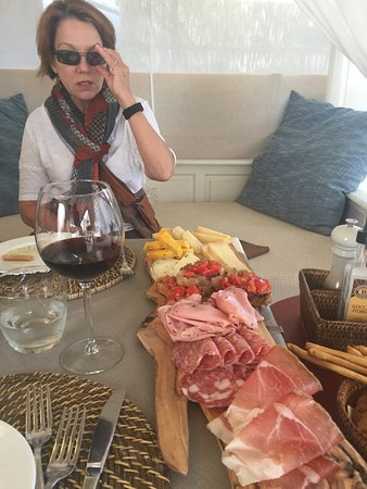 San Giovanni d'Asso, Italia: The antipasto platter - OMG!