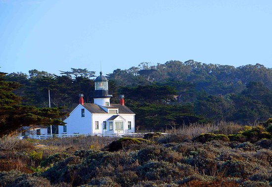 Point Pinos Lighthouse: Pt. Pinos Lighthouse from the nearby beach