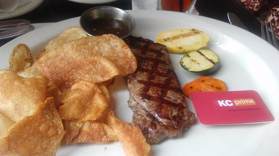 Lawrenceville, NJ: Steak was tough; chips greasy.