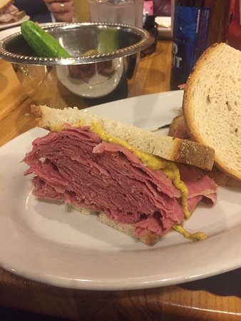 Sarge S Deli Restaurant Hot Salt Beef Sandwich