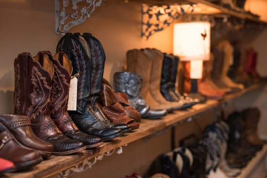 Cowgirl Cash: Wall of boots