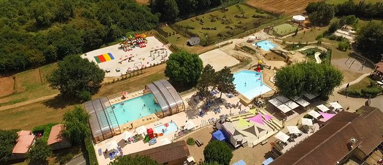 Saint-Genies, Frankrike: Photo aérienne Camping la Bouquerie juillet 2016