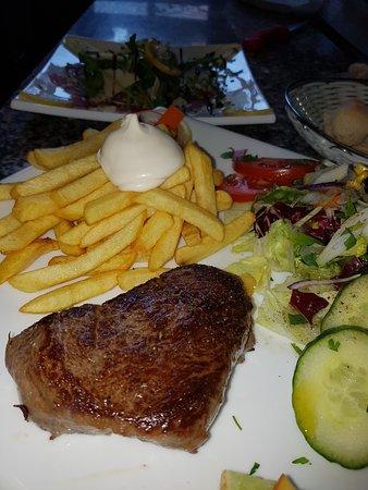 Buckeburg, Tyskland: Steak