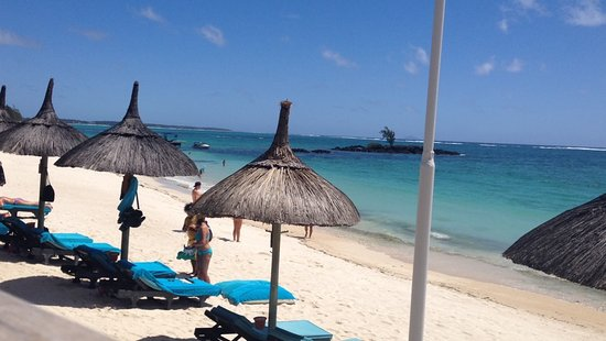 Constance Belle Mare Plage: view from our breakfast table