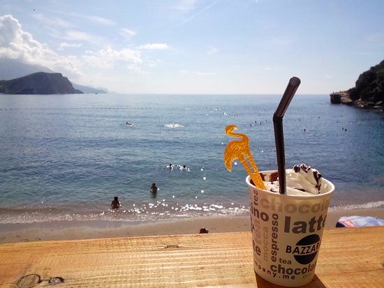 coffee on the terrace of a cafe on the beach picture of mogren