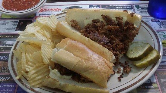 Ephrata, Pensilvania: Chees steak sandwich
