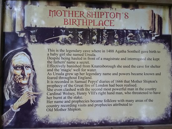 Mother Shipton's Cave and The Petrifying Well: At the side of the cave where Mother Shipton was born.