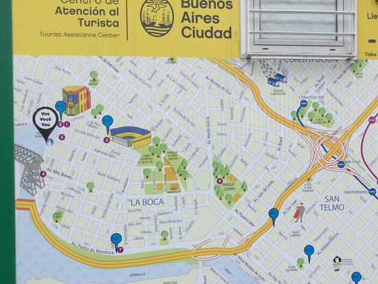 Map of area in La Boca Picture of Joy of Buenos Aires Buenos