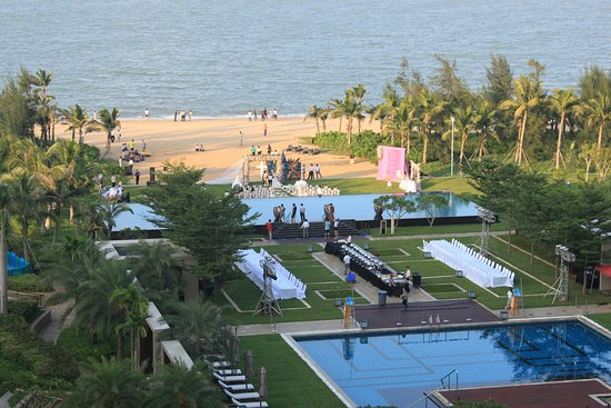 Haikou, China: View of pools and beach