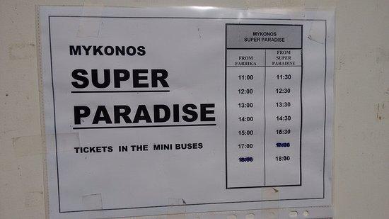 Horário dos ônibus (baixa temporada)