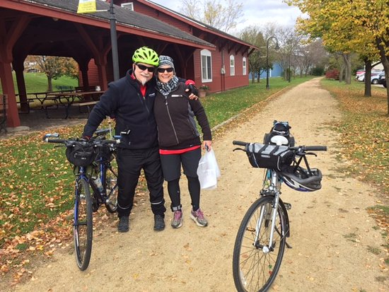 Sparta, WI: Off we go on the first and the best of all 'rail to trail' bike trails
