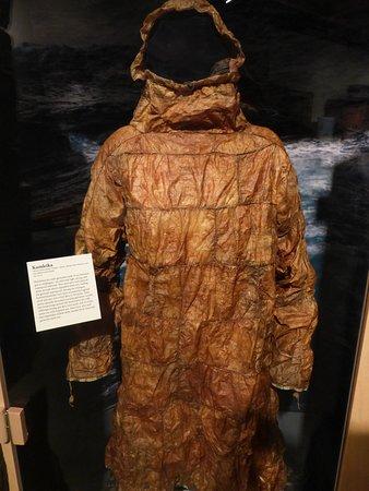 Unalaska, Αλάσκα: Kamleika, waterprrof coat made from intestinees of sea animals