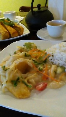 New Port Richey, FL: Tofu Stir Fry with coconut sauce and vegetables