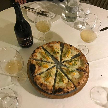 Fiorano Modenese, Italia: La nostra piazza Gourmet: La Violina, con Zucca, gorgonzola, aceto balsamico extra vecchio IGP