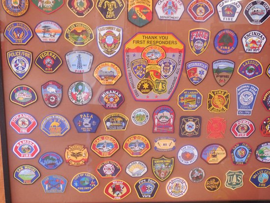 Fire Dept Shoulder Patches - Picture of The Firehouse Museum