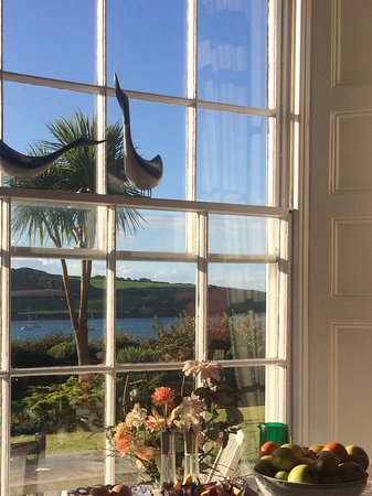 St Mawes, UK: View from the breakfast room