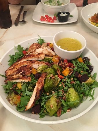 Fairfax, VA: Warm fall vegetable salad with chicken