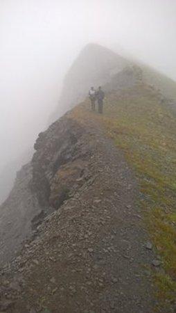 Mt. Marathon : We couldn't see town but still worth it!