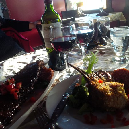 ribs, lamb, and wine - Picture of Antoinette's, Whitehorse ...