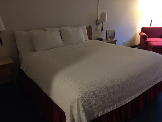 Cape Fox Lodge: Spacious room with a great view. The room has a king sized bed, desk area, and reading area whic