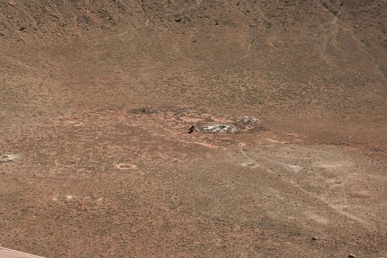 Winslow, AZ: The bottom of the crater.