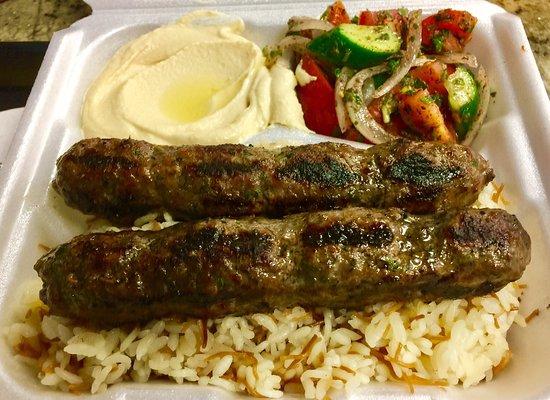 Rancho Cucamonga, Kalifornien: Kefta Kebab Plate