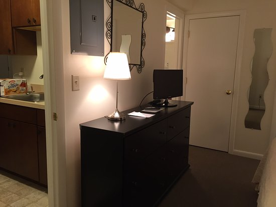 Beverly, MA: Suite 14 - From the bedroom (left door to kitchen, right door to bathroom)