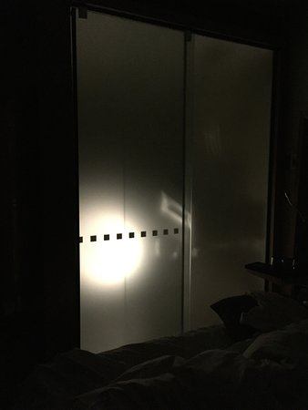 "Novotel Auckland Airport: The bathroom ""night light"" mode."