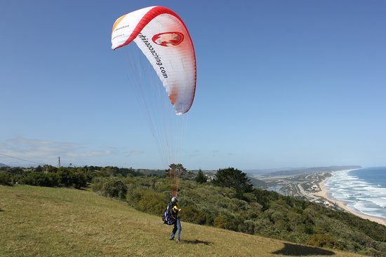Wilderness, Sudáfrica: Paragliding South Africa at its best in the region of the Garden Garden .