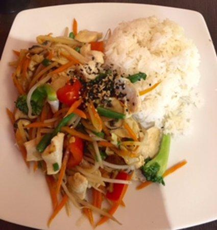 Pho 18: Chicken, veggies and rice