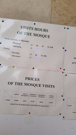 Casablanca, Marruecos: Opening times for seeing inside