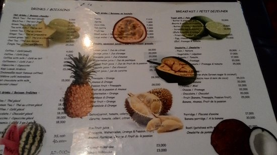 Restaurant Menu Everything Was Delicious Picture Of