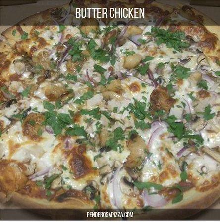 Pender Island, แคนาดา: Butter Chicken Pizza