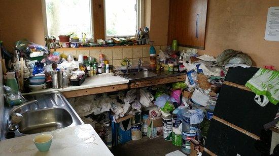 Malham, UK: washing up facilities
