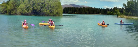 Twizel, Nueva Zelanda: Summer 2015 family enjoying Ruataniwha Rides