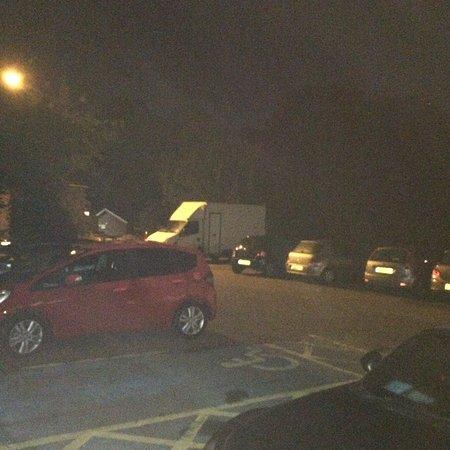 Sunbury, UK: car park