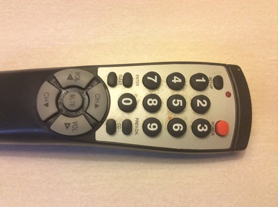 Fairview, TN: Soiled tv remote control