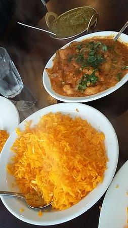 Moonah, Australia: Fish curry, saffron rice and lamb saag