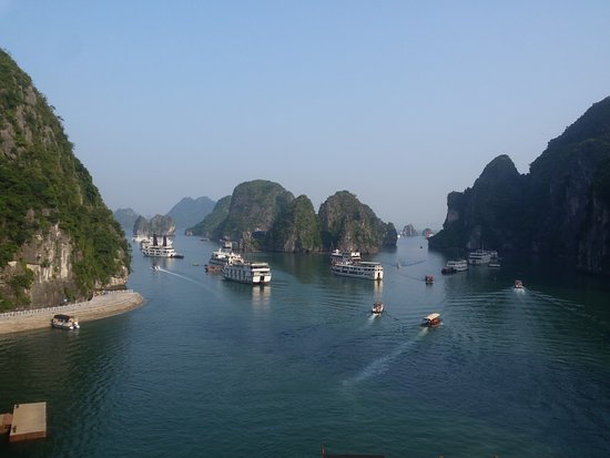 Tuan Chau Island, Vietnam: This is looking down from the walk from the cave